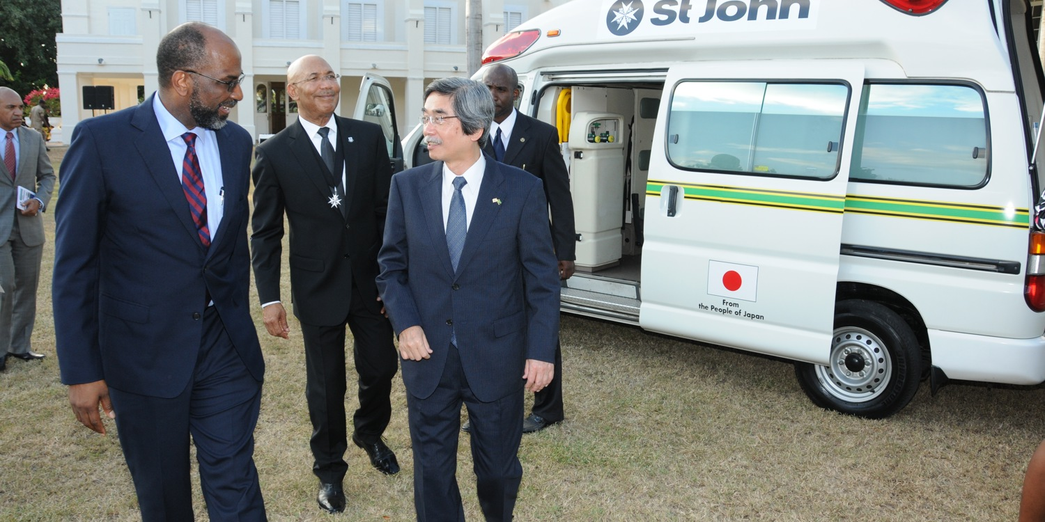 Embassy of Japan donates 6 new ambulances to St John Jamaica