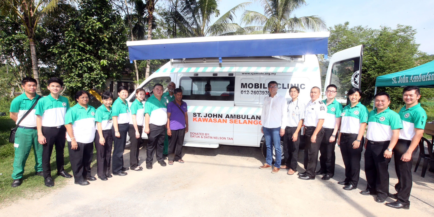 Healthcare on wheels: St John in Malaysia launches new mobile outreach clinic
