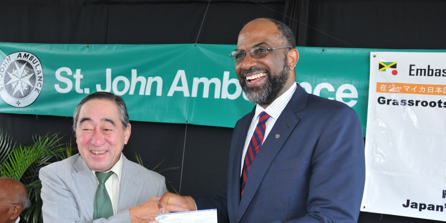 St John Jamaica receives grant from Japan for the acquisition of 6 ambulances
