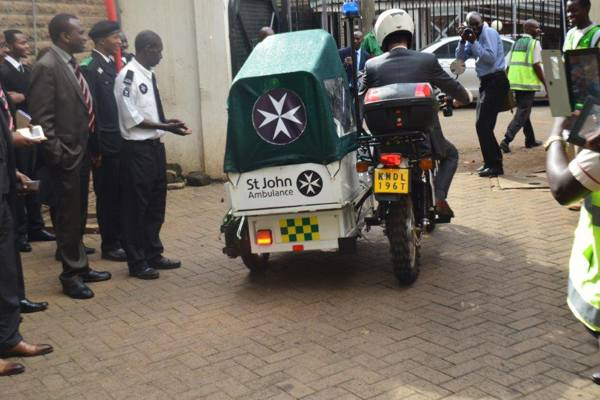 French Embassy donates motorcycle ambulances to St John Ambulance Kenya